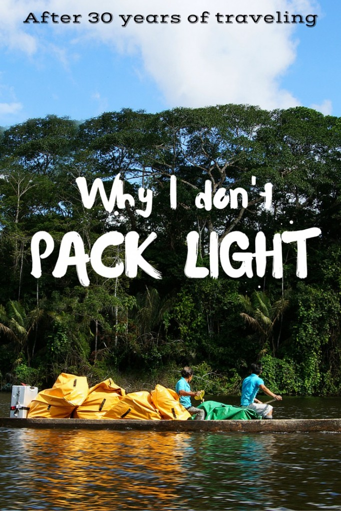 Packing light - why I hate it