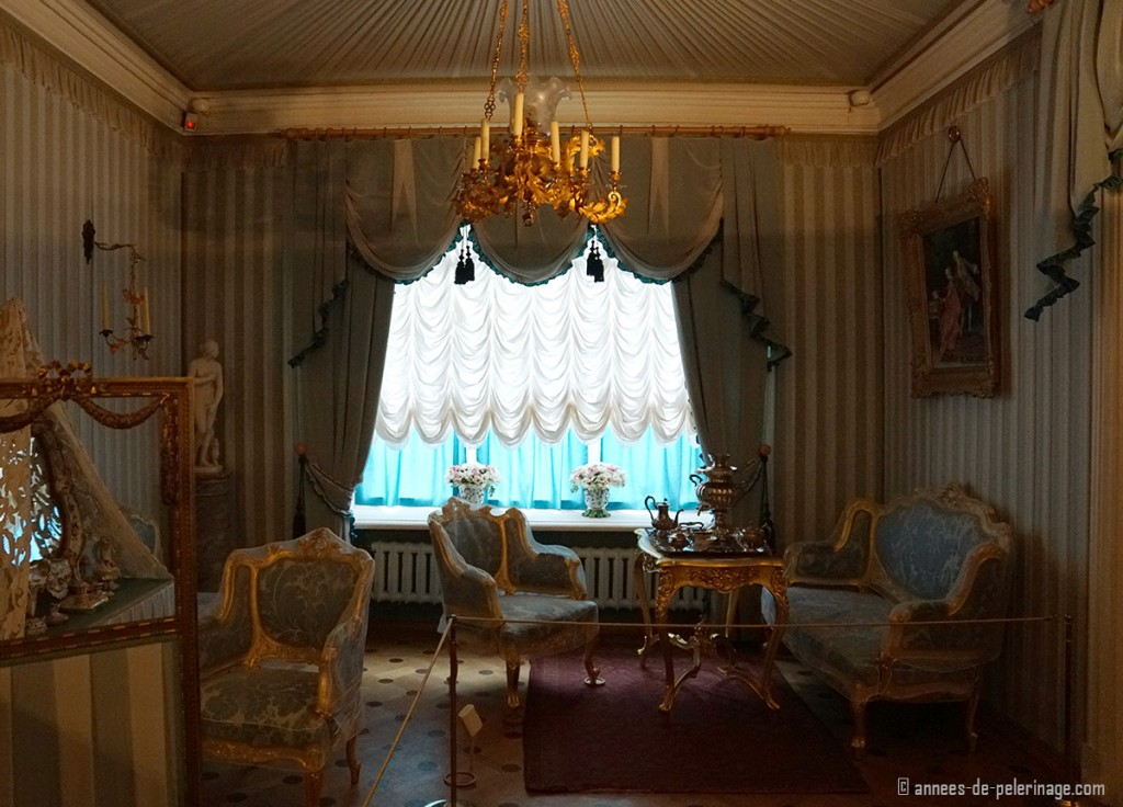 The antechambre of the Bathhouse Wing of the Monplaisir Palace in Peterhof, St. Petersburg