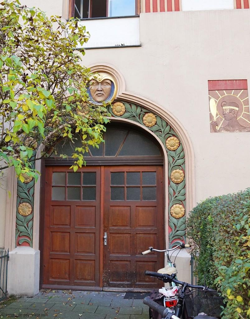 Art Nouveau door at the Römerstrasse 11 in Schwabing, Munich