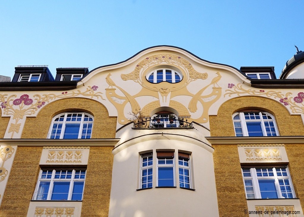 Art Nouveau house in the Lucile Grahn Strasse 47 in Bogenhausen, Munich