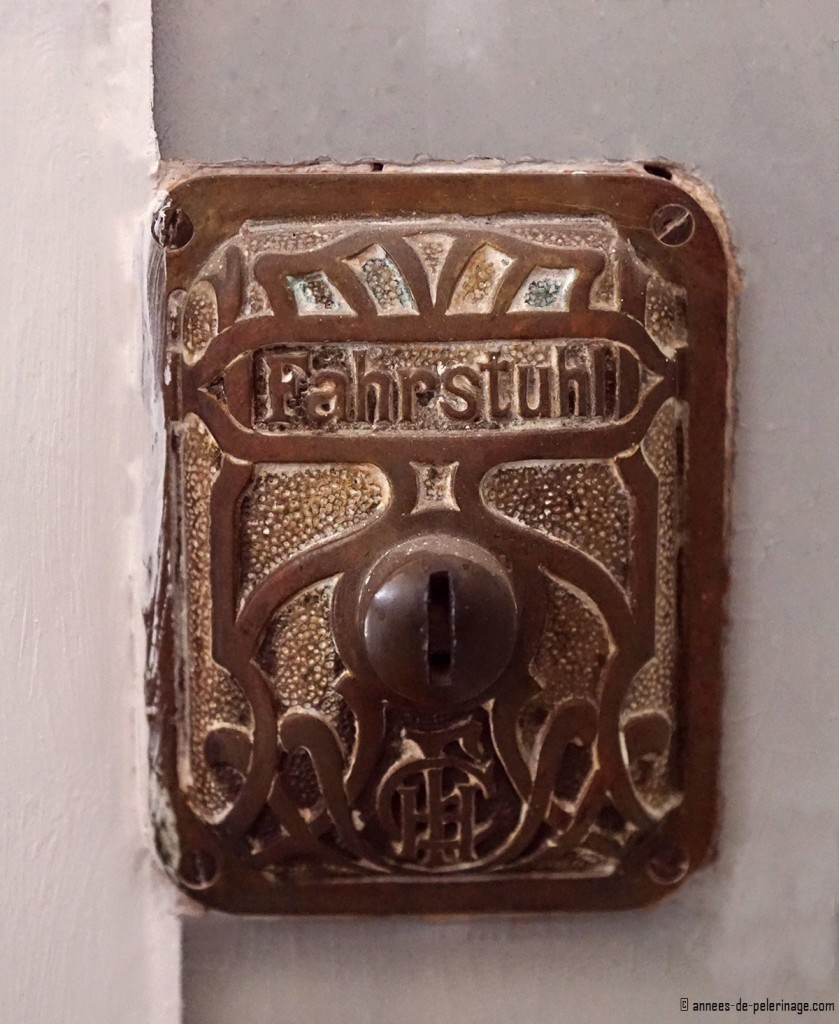 An Art Nouveau lift button in a village in munich
