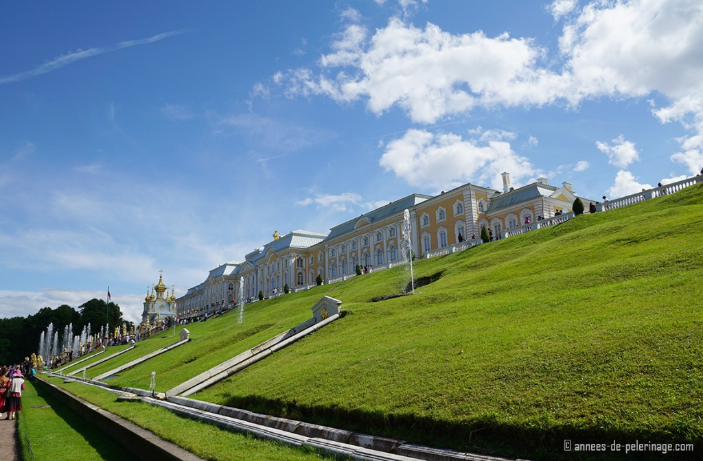 The Grand Palace of Peterhof in St. Petersburg, Russia