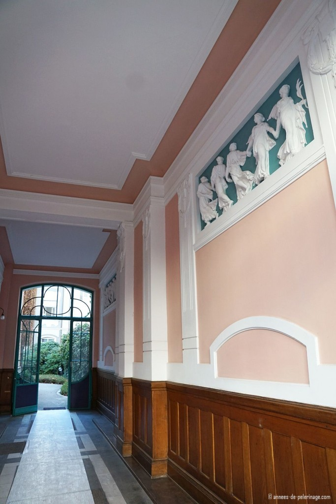 inside an art nouveau house at Franz-Josef-strasse in Munich