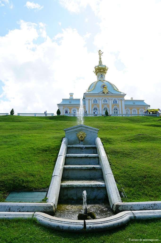 A little church in Peterhof Palace in St. Petersburg, Russia, part of the main complex.
