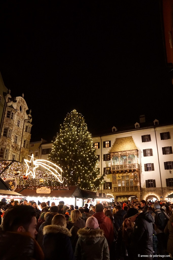 The Christmas Market in Innsbruck in winter