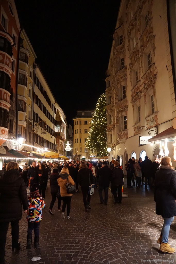 The streets around the Christmas Market in Innsbruck Austria