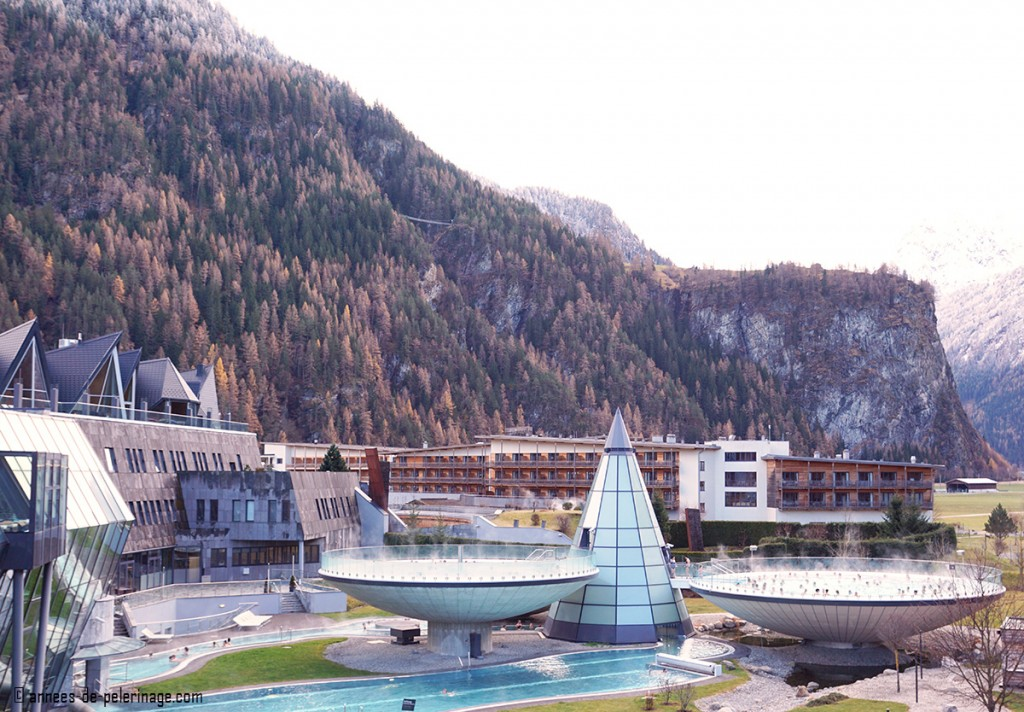 The Aquadome spa near Innsbruck in Winter