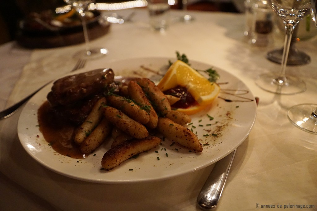 Authentic austrian Food at the Ottoburg restaurant in Innsbruck, Austria