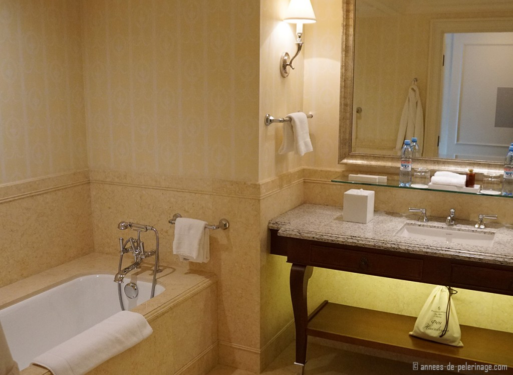 The bathrooms of the Four Seasons Hotel Lion Palace St.Petersburg, Russia