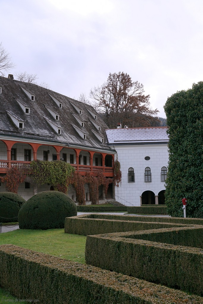 The park of Castle Ambras in Innsbruck in Winter