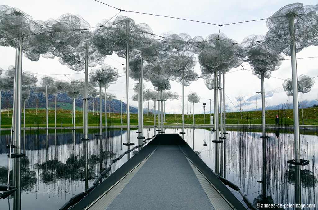 The spectacular cloud forest at the Swarovski Crystal World in Innsbruck, Austria