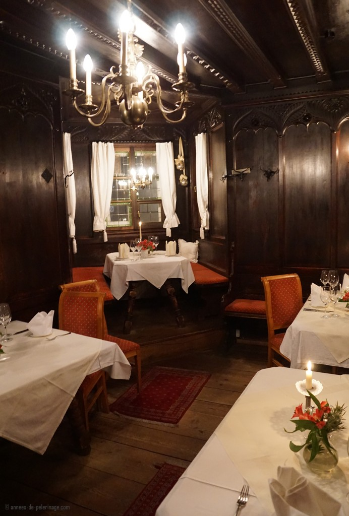 The beautiful rooms inside the Ottoburg restaurant in Innsbruck, Austria