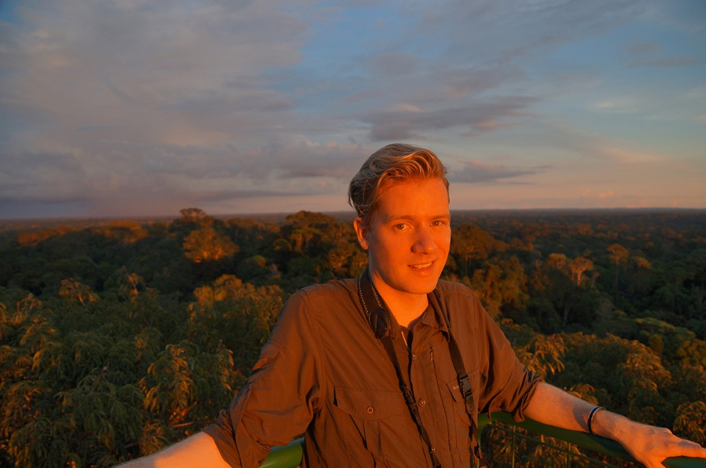 Me atop an observation tower in the Yasuni National Park in Ecuador