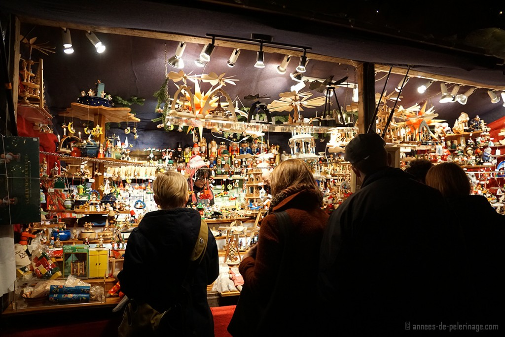 A toy booth on the Christmas market in Munich
