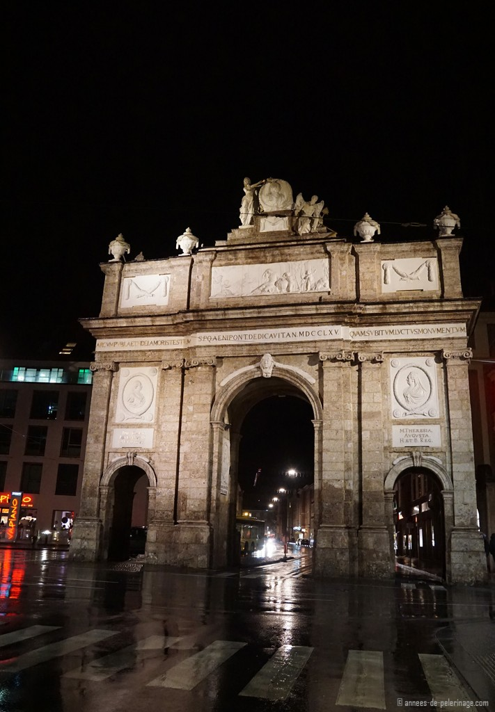 The triumpfphorte arch in the middle of the historic city of Innsbruck, Austria