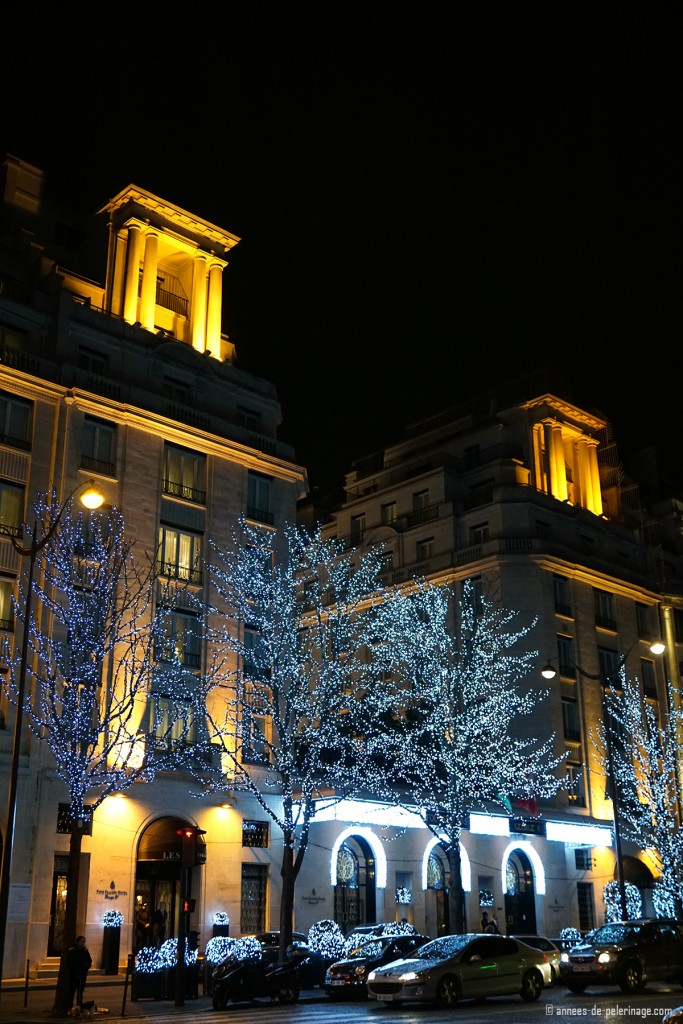 The Four Seasons hotel George V in Paris on the avenue George V near the Champs Elysee