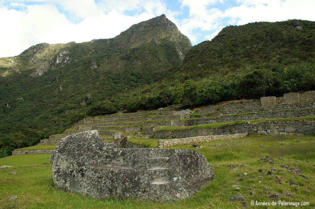 The Funerary Rock and the cemetery of Machu Picchu
