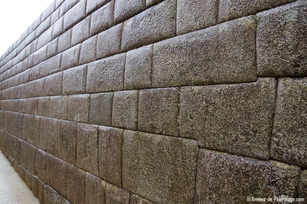 The perfect masorny of the Artisans wall in the royal sector of Machu Picchu