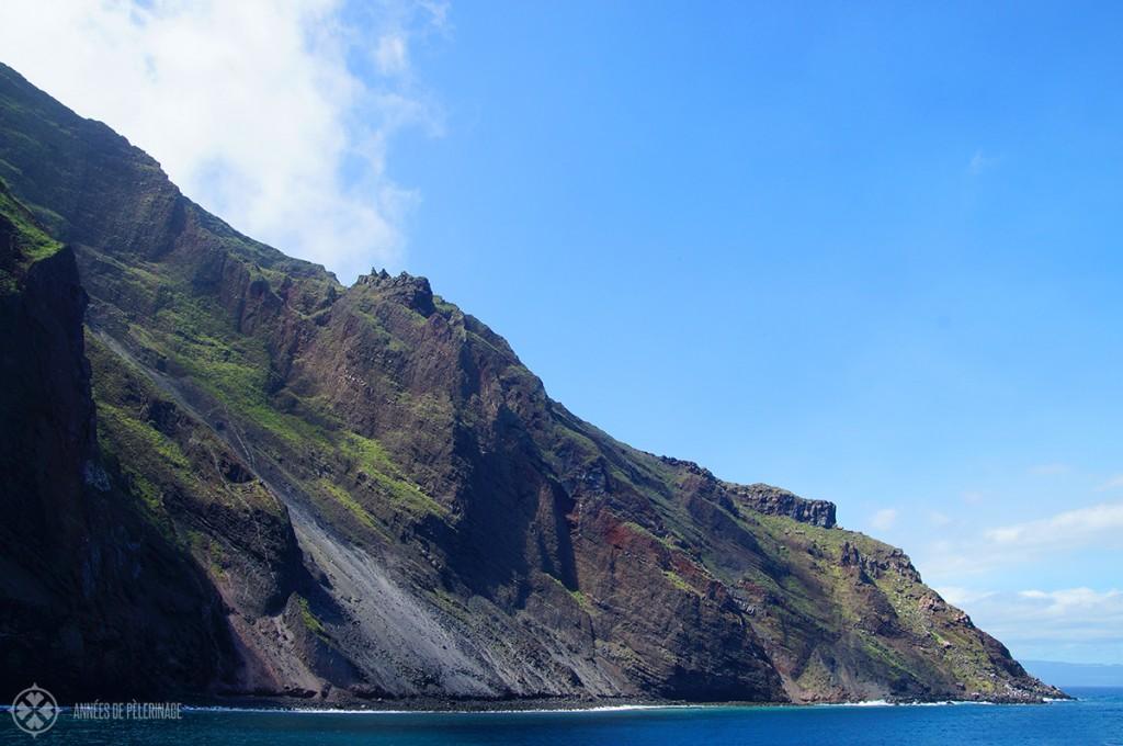 The stunning lava cliffs on the Galápagos
