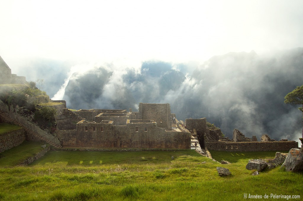 The Royal Palace of Machu Picchu seen the early morning light