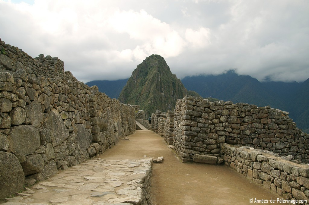 Houses inside the urban sector of Machu Picchu
