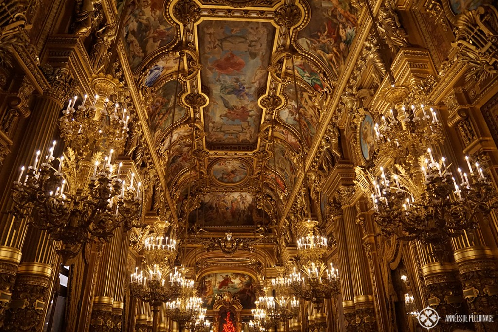 The ballroom inside the Opéra Garnier in Paris