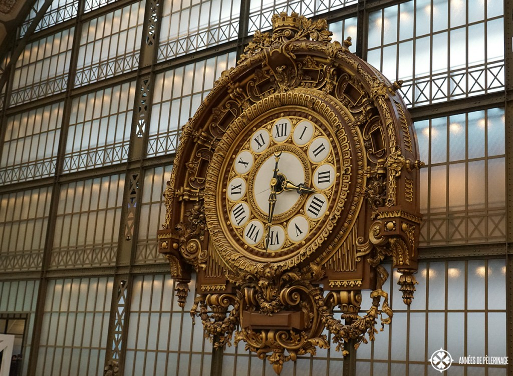 The famous clock inside the Musée d'Orsay in Paris