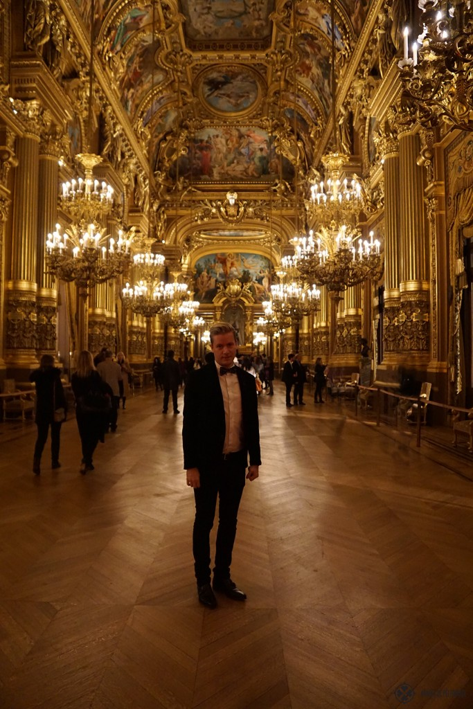 Me standing in the ballroom of the Opera Garnier in Paris