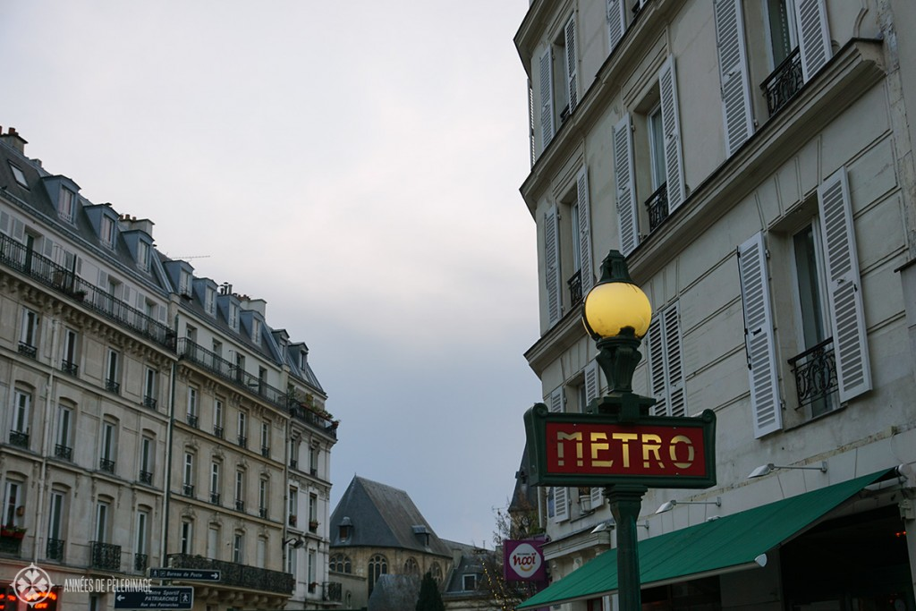An old Metro sign in Paris