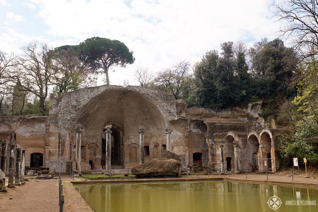 The Seapeum at the end of the canopus pool of the Villa Adriana