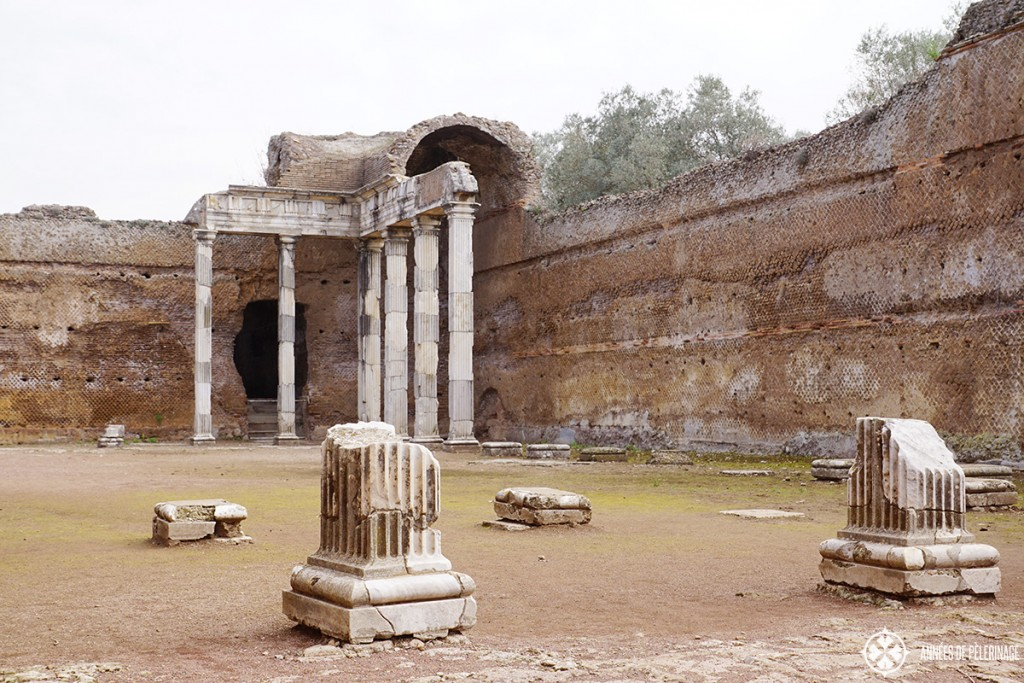 Remains of the imperial palace at the Villa Adriana in Tivoli