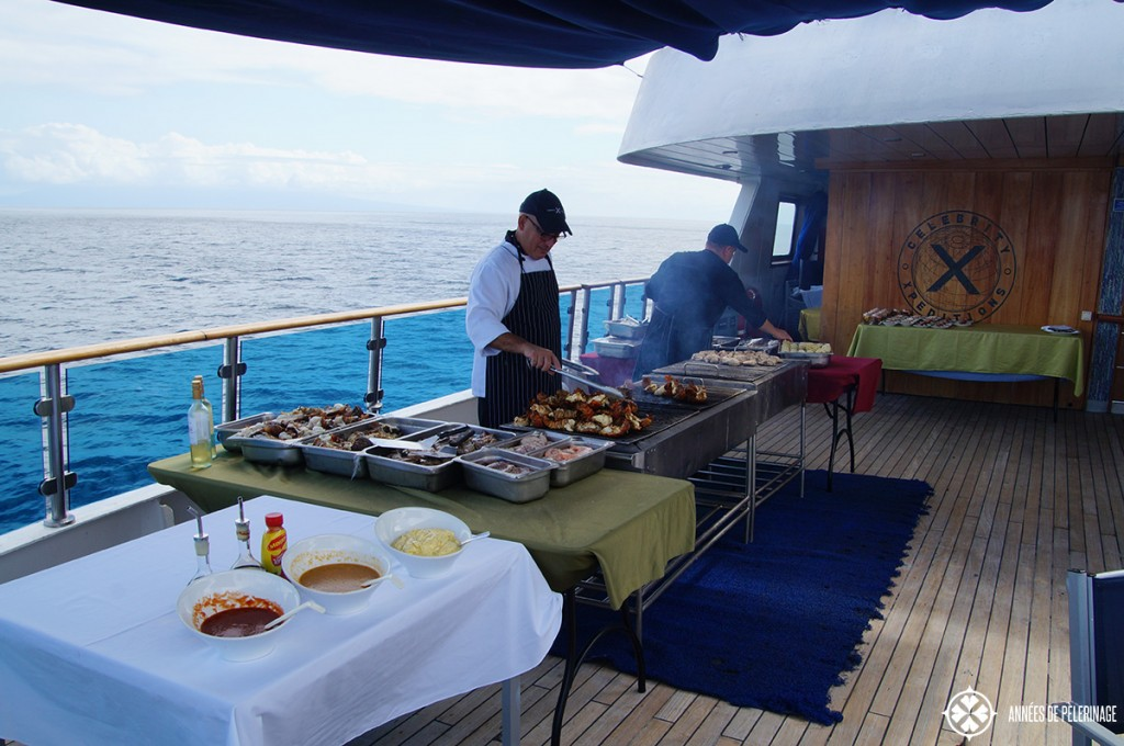 The beagle grill on the mid deck of the Celebrity Xpedition Galapagos luxury cruise ship