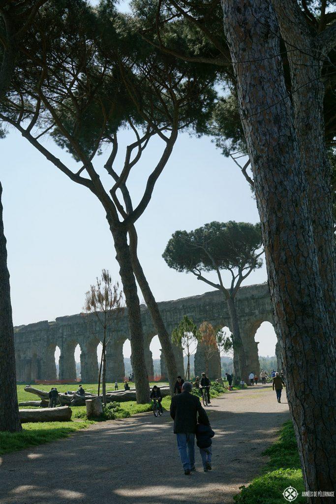 The via Claudia inside the Parco degli Acquedotti
