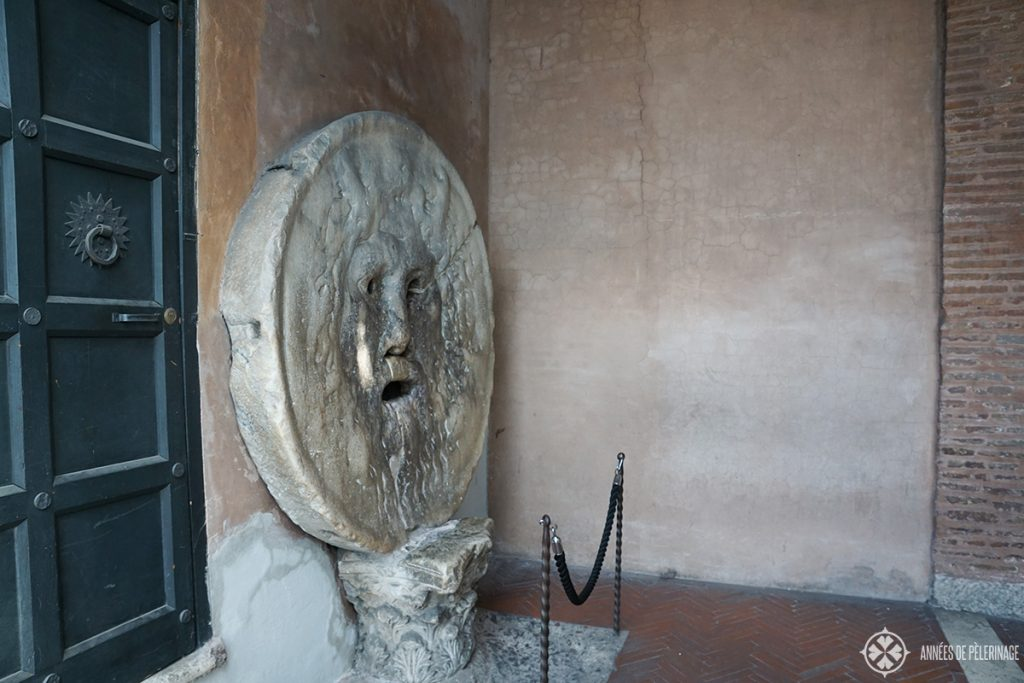 The Bocca della verita in Rome In the portico of Santa Maria in Cosmedi