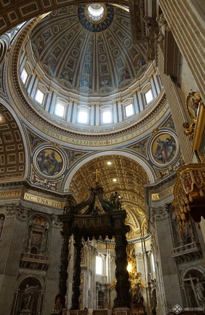 The high Altar inside St. Peter's Basicila in Rome / Vatican