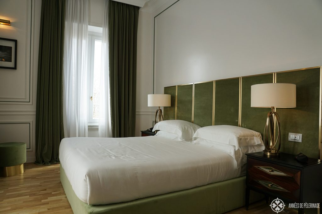 The junior suite of the Palazzo Dama Hotel in Rome