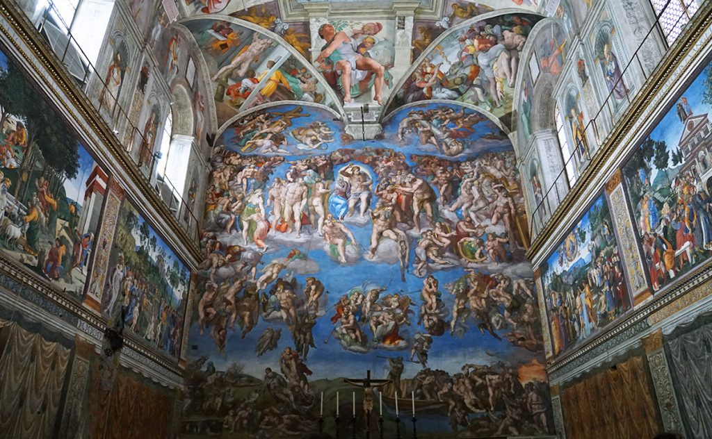 Inside the Sistine Chapel in the Vatican