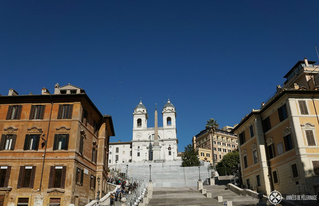 The Spanish steps in Rome - currently being renovated