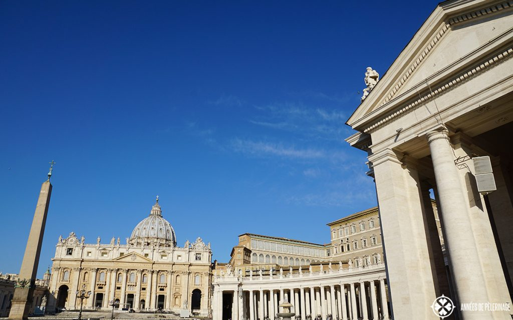 St. Peter's Basilica in Rome and the amazing square in front of it.