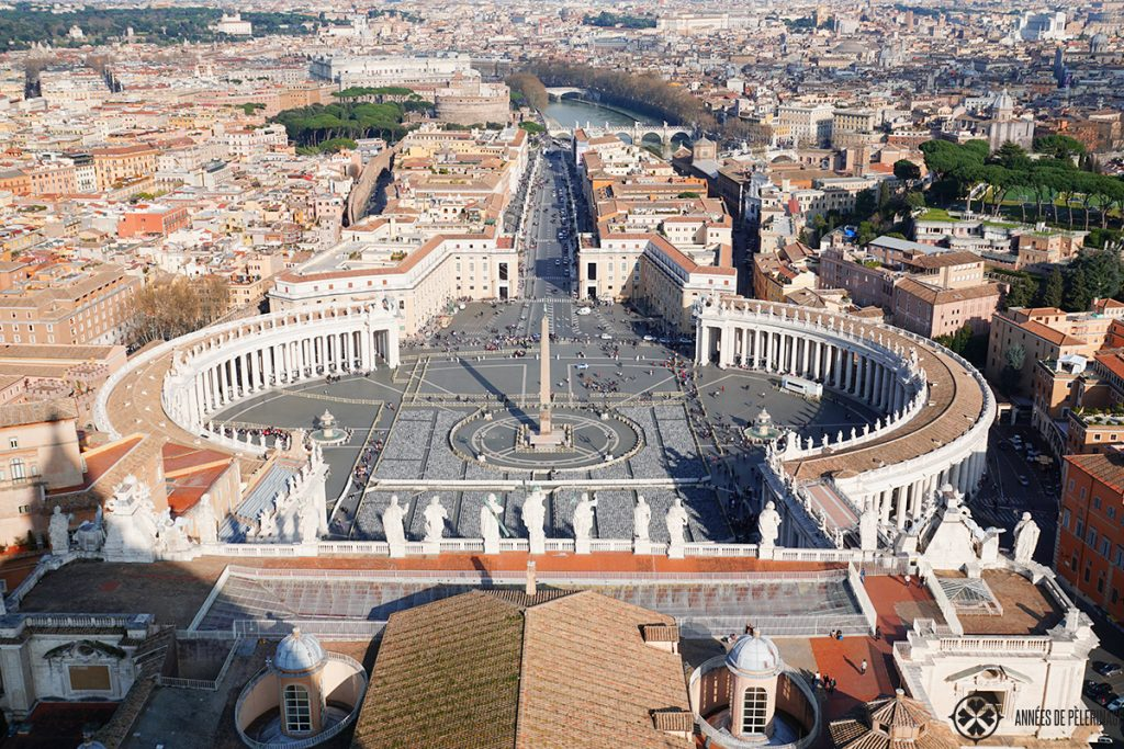 The view from the top of St. Peter's Basilica in Rome / Vatican
