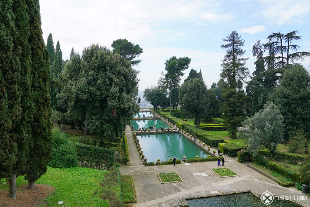 The pools and gardens of the villa d'este in Tivoli, near Rome