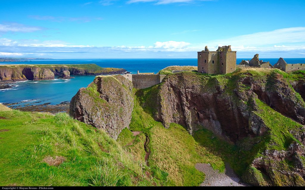 Dunnotar castle on the east coast of Scotland near Aberdeen