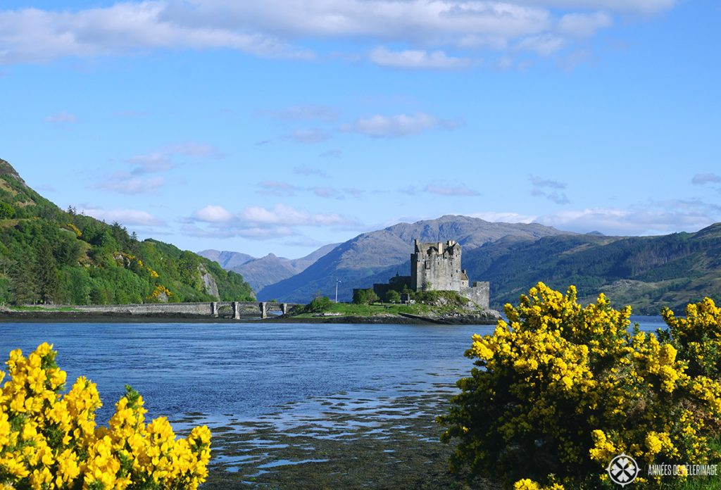 Eilean Donan Castle in Scotland, near the bridge to the Isle of Skye