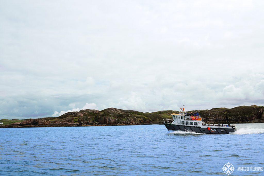 boat leaving for Lunga Island Scotland