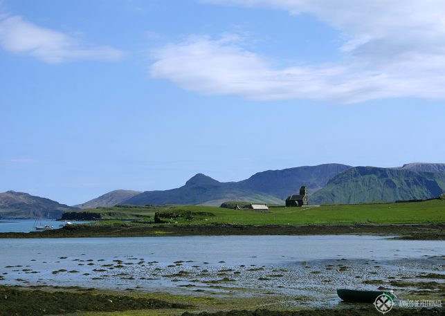 A church on the island of Sanday in Scotland