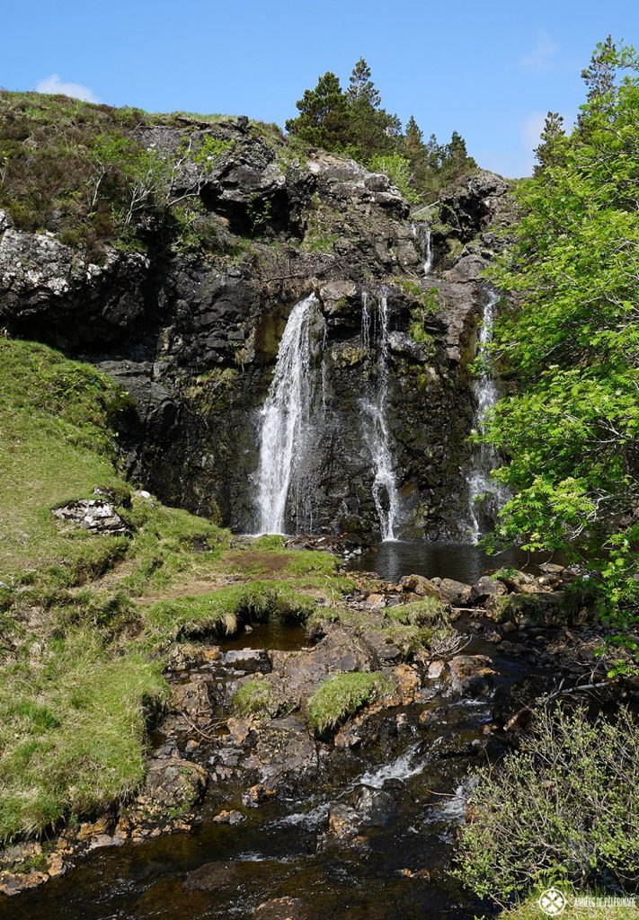 Waterfalls at the Fairy pools on the Isle of Skye in Scotland