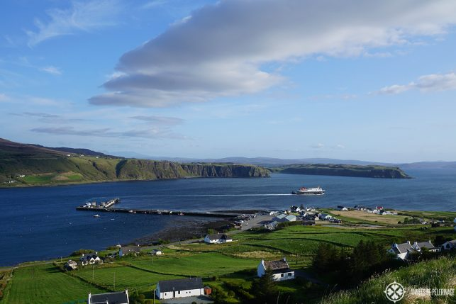 The ferry to the Isle to the outer Hebrides on the Isle of Skye in Scotland