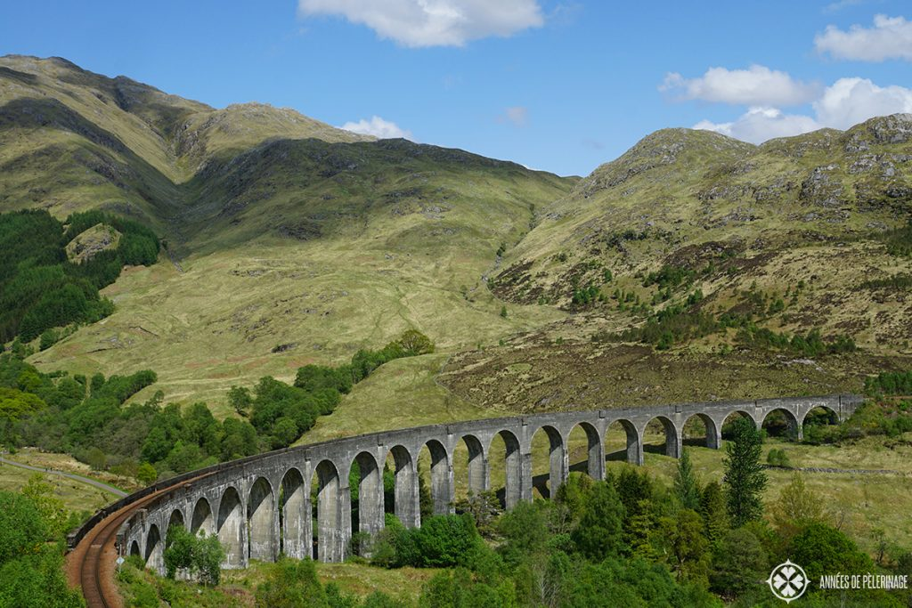 The majestic Glenfinan Viaduct near Fort Williams in Scotland