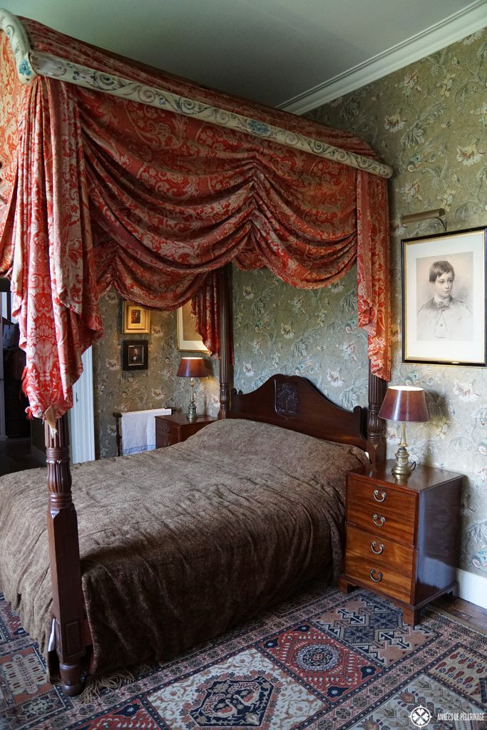 A huge bed inside dunvegan Castle on the Isle of Skye in ScotlandD