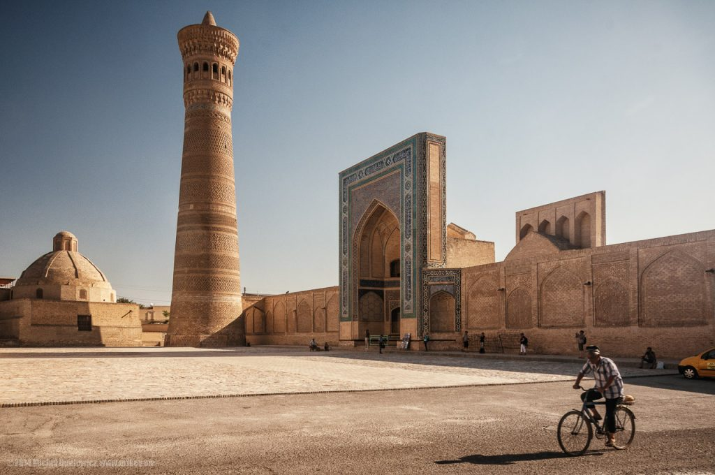 An ancient minaret in Bukhara in Uszbekistan